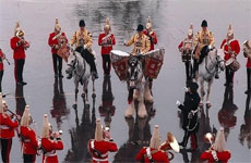 Drum Horse and musical regiment